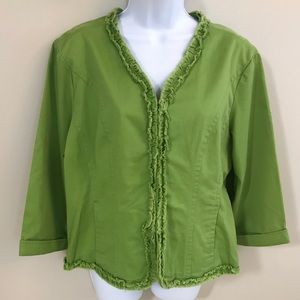 Live a Little Lime Green Jacket Size XL